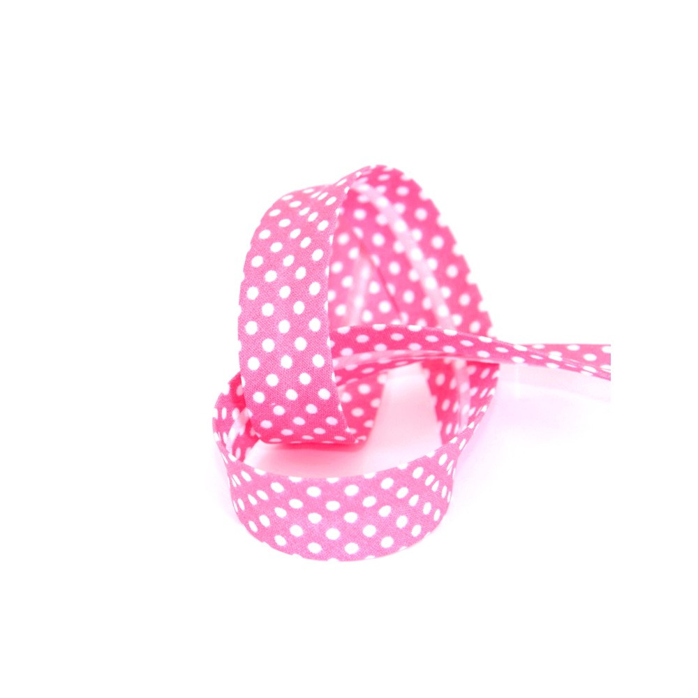 Biais tape through pea 18 mm pink 74801832