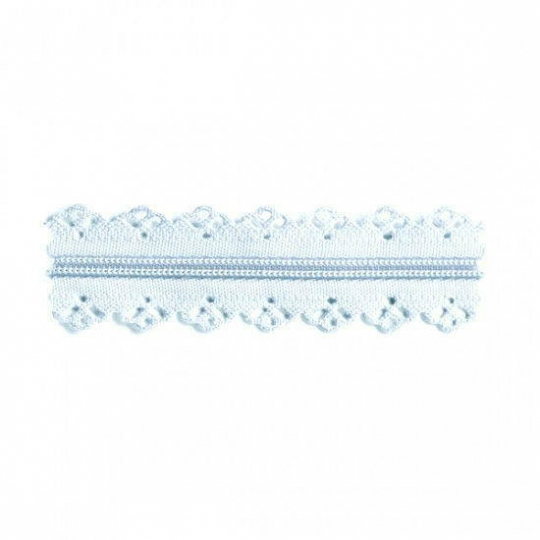 Lace finish zipper light blue RV302