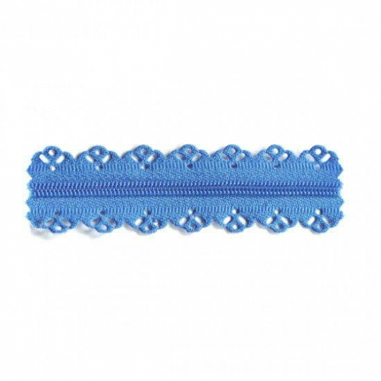 Lace finish zipper blue RV318