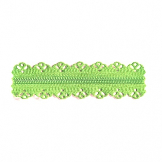 Lace finish zipper green limette RV356