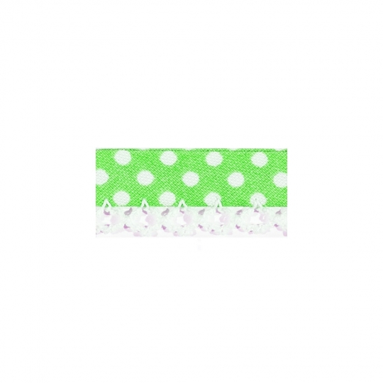 Biais tape lace finish through pea light mint limette green 7148
