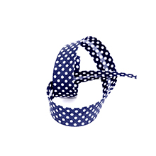 Biais tape through dots a 18 mm navy blue 74801822