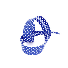 Biais tape through dots 18 mm navy blue 74801828