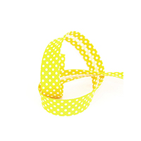 Biais tape through dots 18 mm yellow 74801805