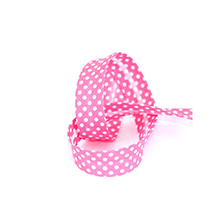 Biais tape through dots 18 mm pink 74801832