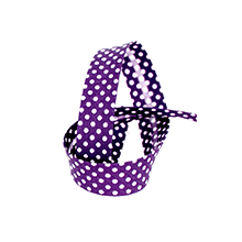 Biais tape through dots 18 mm purple 74801852