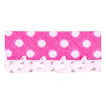 Biais tape lace finish through dots pink 714861232