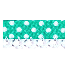 Biais tape lace finish through pea light mint green 714861223