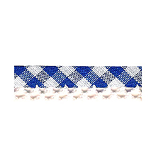 Biais tape gingham lace finish blue 714361220