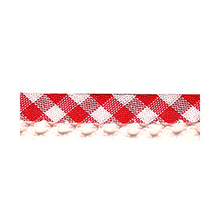Biais tape gingham lace finish red 714361246