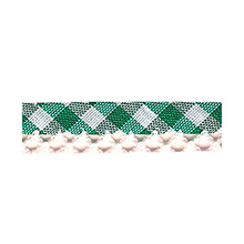 Biais tape gingham lace finish light green 714361260