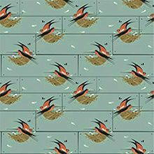 Birch fabrics cotton knit Charley Harper Barn Swallow
