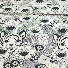 Organic knit fabrics tiger and garden