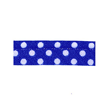 Sewing piping navy blue with white dots 10 mm 74851028