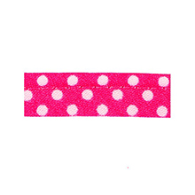 Sewing piping fushia with white dots 10 mm 74851035