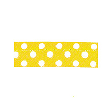 Sewing piping yellow with white dots 10 mm 74851005