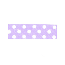 Sewing piping lilas with white dots 10 mm 74851068