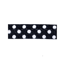 Sewing piping black with white dots 10 mm 74851001