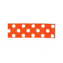 Sewing piping orange with white dots 10 mm 74851095