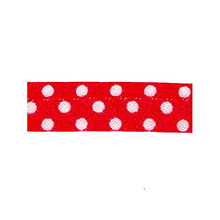 Sewing piping red with white dots 10 mm 74851046