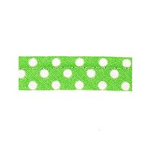 Sewing piping green limette with white dots 10 mm 74851056