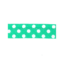Sewing piping mint green with white dots 10 mm 74851067