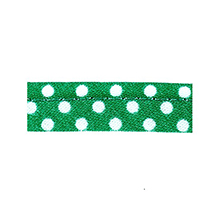 Sewing piping green with white dots 10 mm 74851088