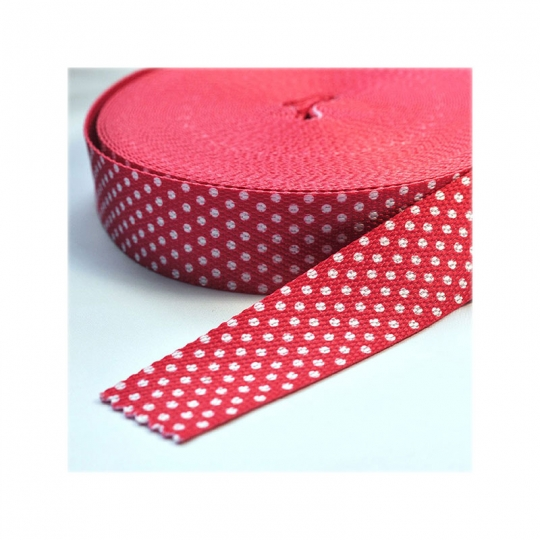 Bag belt with dots rouge GB02
