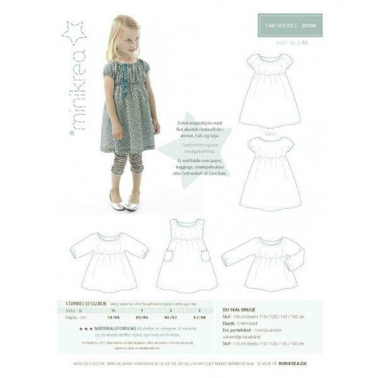 Minikrea sewing pattern dress 20000